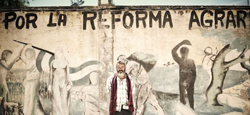 Marinaleda, murale. Juan Manuel Sanchez Gordillo