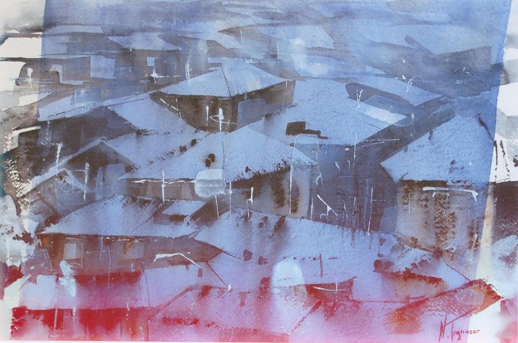notte invernale nadia tognazzo acquerello biennale albignasego