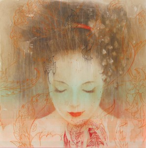 acquerello geisha cristian ceccaroni biennale albignasego villa obizzi