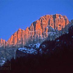 Le Dolomiti, rifugio del cronista Buzzati