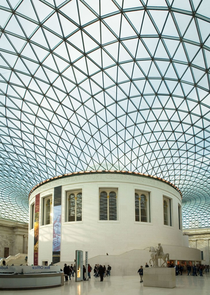 il grande patio interno del British Museum