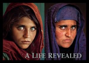 """""""RAGAZZA AFGHANA"""", FOTOGRAFATA NEL 1985 E RITROVATA NEL 2002 DAL GRANDE FOTOGRAFO DEL NATIONAL GEOGRAPHIC STEVE McCURRY"""