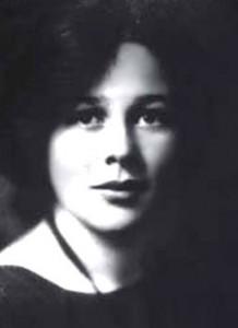 Una fotografia della madre di Mario Capecchi, Lucy Ramberg, all'età di 19 anni.