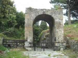 la porta nord dell'antica città di Pompei, detta Nolana