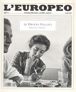 la copertina del numero speciale del mensile L'Europeo (n. 4/2007) dedicato ad Oriana Fallaci