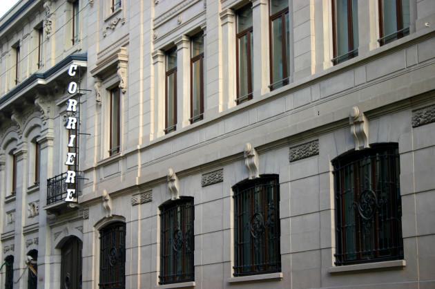 la sede storica del Corriere della Sera, in via Solferino a Milano.