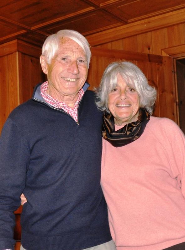Walter Bonatti con Rossana Podestà, a lui legata da un amore durato trent'anni.