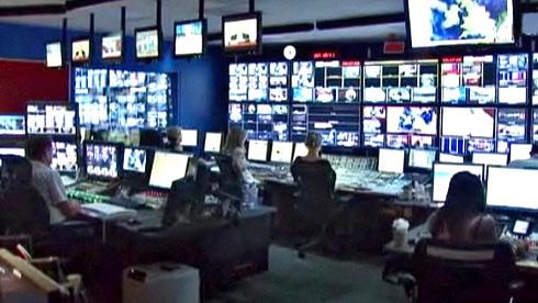 La regia di Euronews a Lione