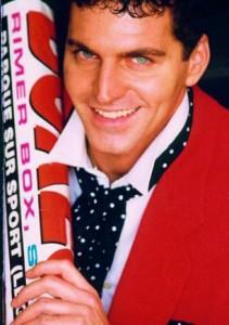 Hector Benozio, ex modello, in una foto tratta da una campagna pubblicitaria di qualche anno fa (ph Giuditta Bussetti)