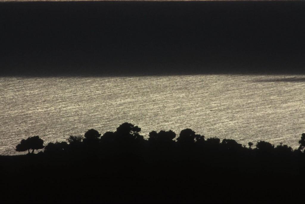 Chiarore di luna sul mar Adriatico.