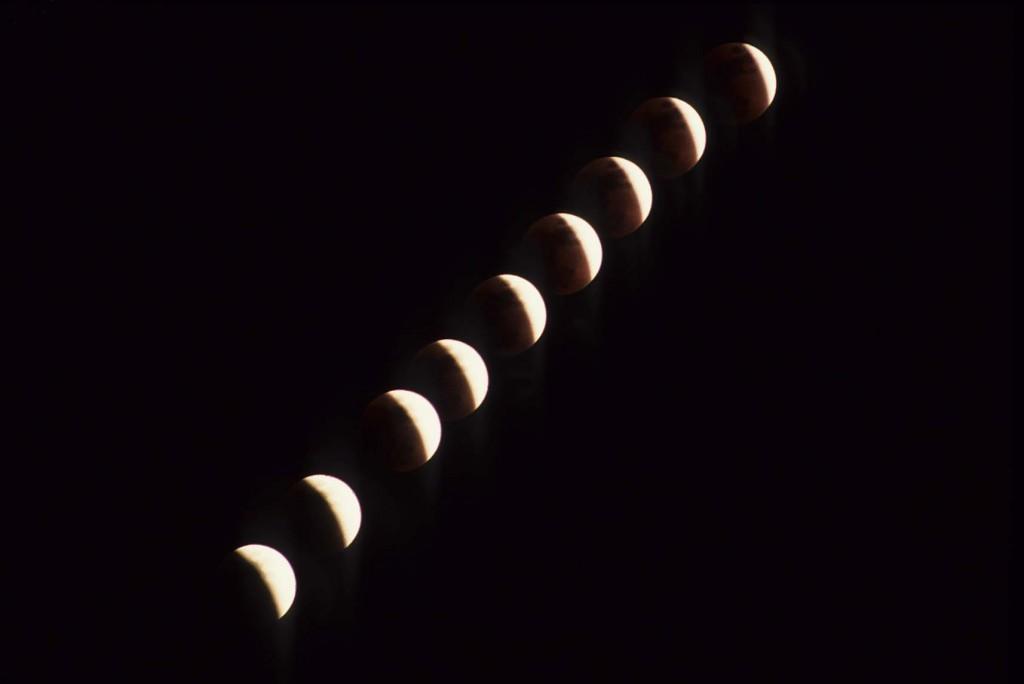 Recanati Leopardi Eclissi di luna