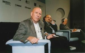 Sebastiao Salgado con Salvatore Giannella, Giornate Internazionali di Studio del Centro Pio Manzù (2000).