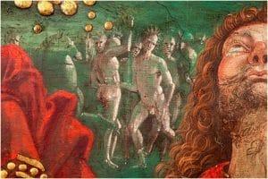 """Un dettaglio de """"La Resurrezione di Cristo"""" di Pinturicchio"""