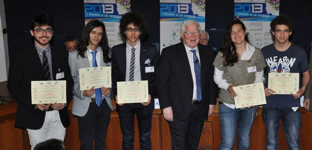 I premiati ritratti con Alberto Pieri, dinamico segretario generale della FAST