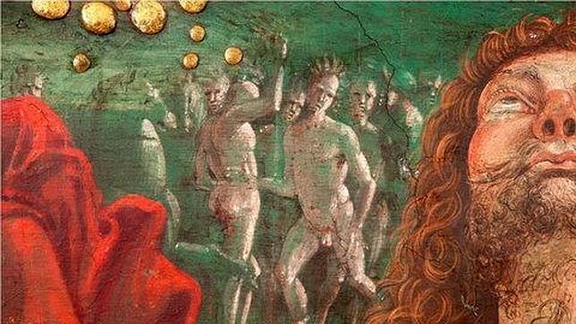 Un dettaglio de La Resurrezione di Cristo, di Pinturicchio.