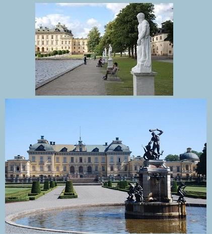 Il parco del Castello di Drottningholm, residenza della famiglia reale svedese. Nel 1991 è stato iscritto nell'elenco del Patrimonio dell'umanità stilato dall'UNESCO.