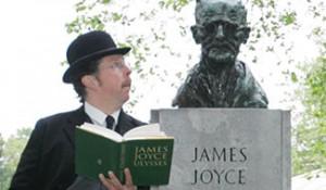 Dublino: busto di Joyce nel parco di St Stephen's Green.