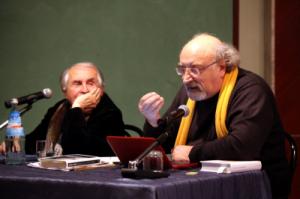 Salvatore Giannella con Tonino Guerra per la presentazione de La Valle del Kamasutra (26 ottobre 2010)