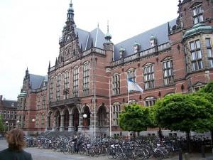 La facciata dell'Università di Groningen