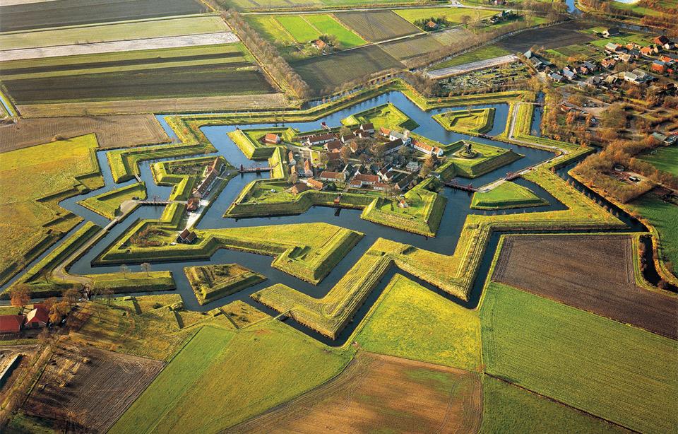 Groningen: veduta aerea di Fort Bourtange