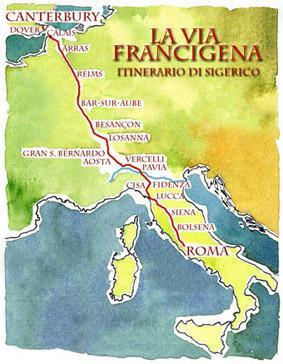 via-francigena-mappa