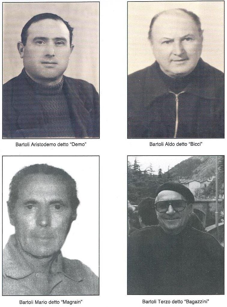 """I quattro fratelli Bartoli, operatori del primo traghetto azionato con la fune tirata a mano. (dal libro """"La storia del traghetto di Cesenatico coincide con la storia del suo porto"""", di Sabrina Bartoli)"""