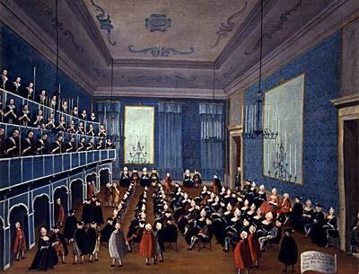 La cantata delle putte degli Ospitali (circa 1720) di Gabriele Bella. Palazzo Querini, Venezia
