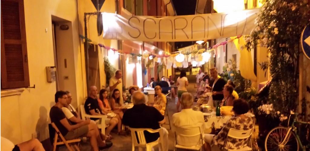 Cesenatico (Forlì Cesena): un'immagine dello Scarana party agostano in via Semprini.