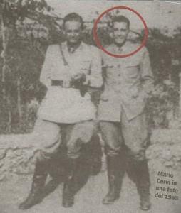 1943, una foto del sottotenente Mario Cervi, allora 22enne.