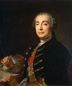 Francesco Rastrelli (1700-1771), in un ritratto di Lucas Pfanzelt