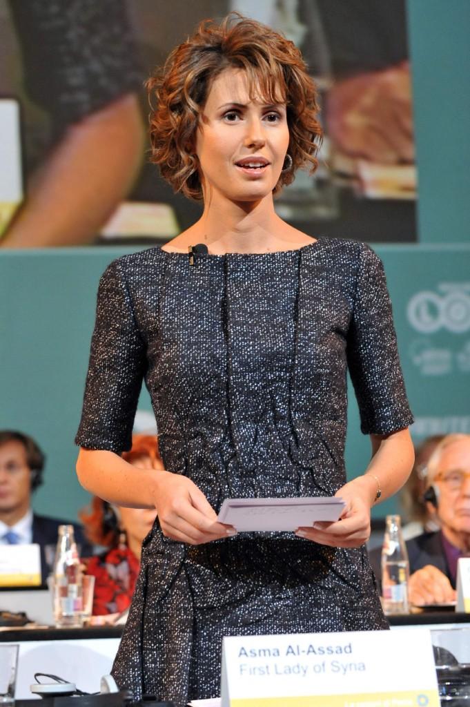 Rimini, 2008. Asma Al Assad, alle giornate internazionali di studio del Centro Pio Manzù.