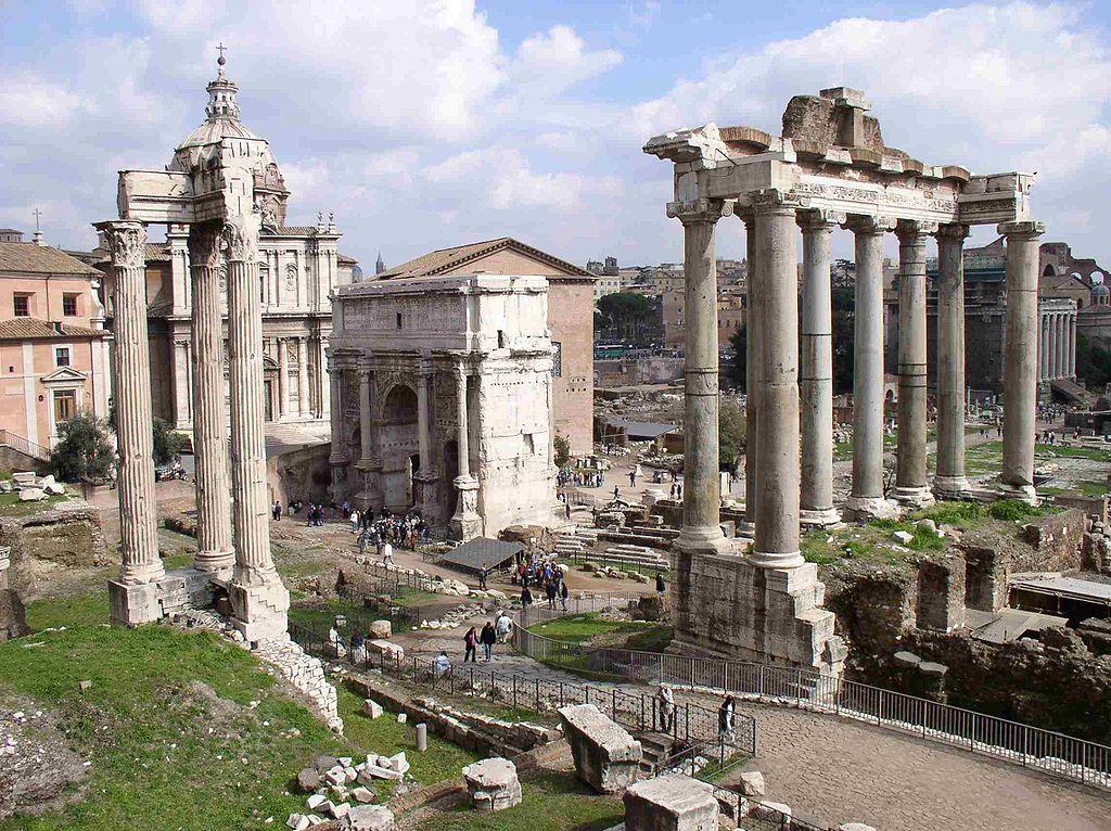 Il Foro Romano (Forum Romanum, sebbene i Romani si riferissero a esso più spesso come Forum Magnum o semplicemente Forum) era situato nella valle compresa tra il Palatino e il Campidoglio e costituì il centro commerciale, religioso e politico della città di Roma.