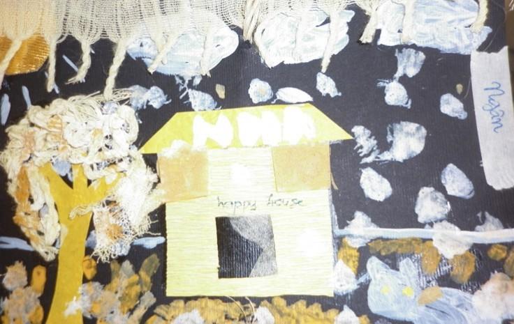 Una delle opere prodotte dai bambini della scuola di Pho Cap