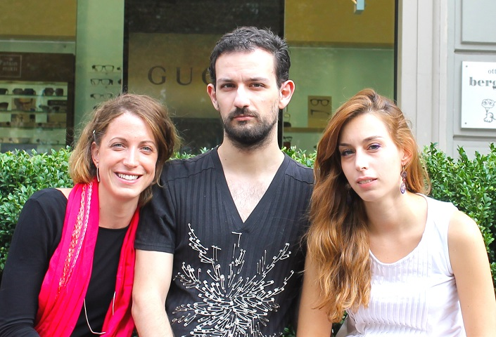 Da sinistra Costanza Barbera 29 anni, Lorenzo Peroni 30 anni e Michela Clerici 28 anni.