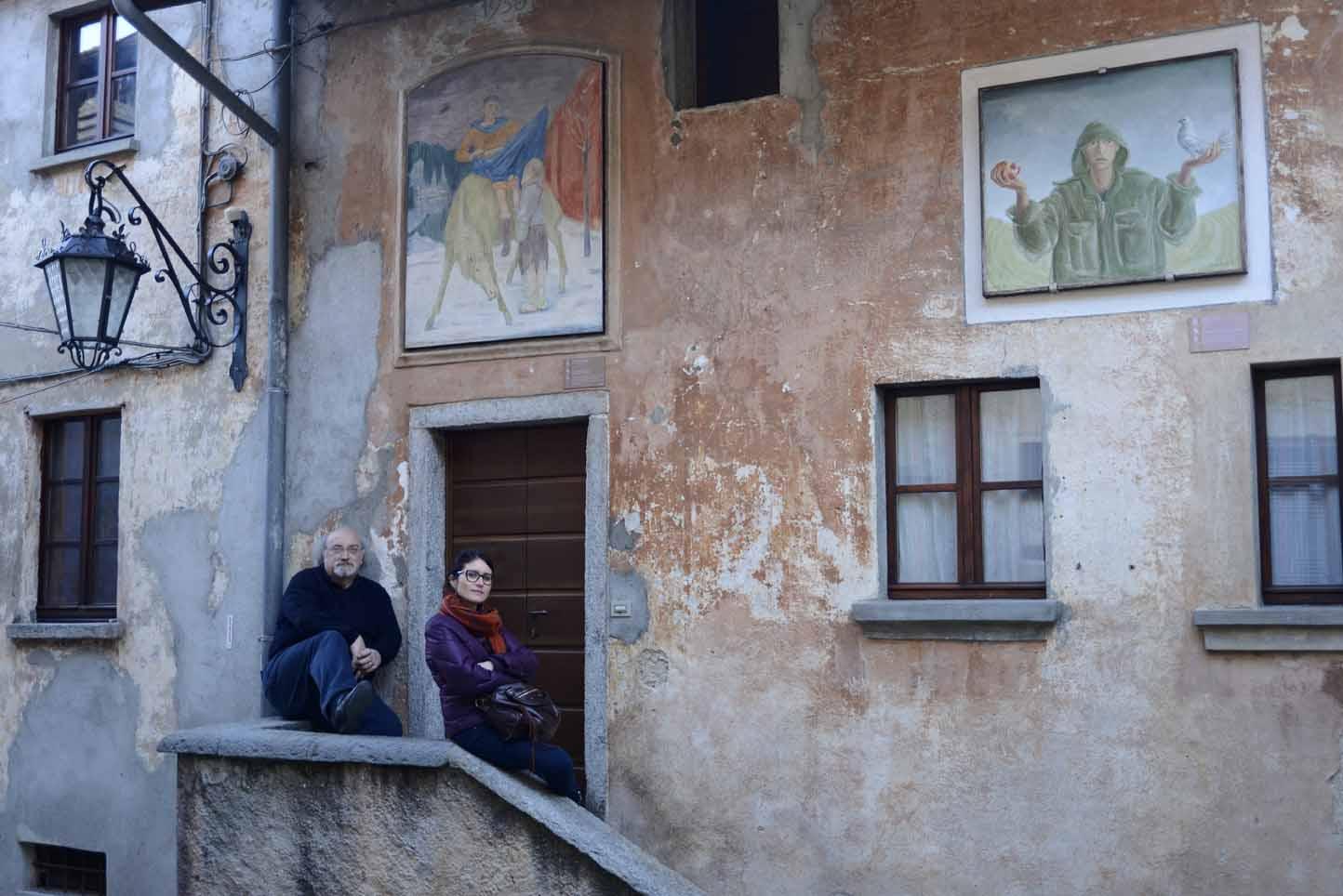 Arcumeggia e la prima galleria all'aperto <br />in Italia. Non dimentichiamo <br />un borgo pilota per l'arte