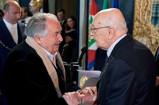 Tonino Guerra e Giorgio Napolitano
