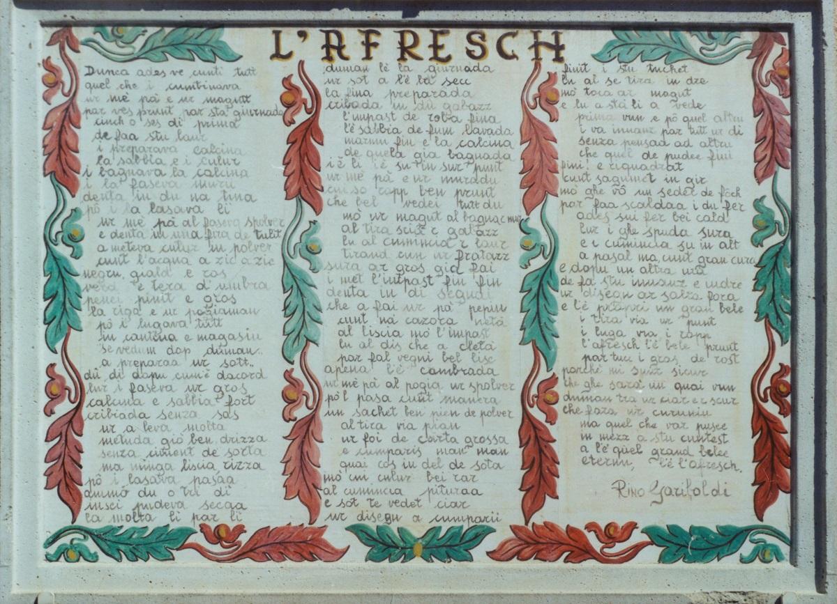 A Runo di Dumenza 68 affreschi e il dipinto che cercherete invano: la leonardesca Gioconda