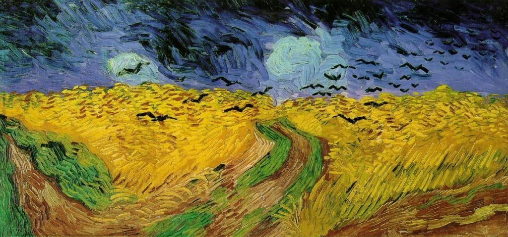 """Van Gogh, """"Campo di grano con volo di corvi"""""""