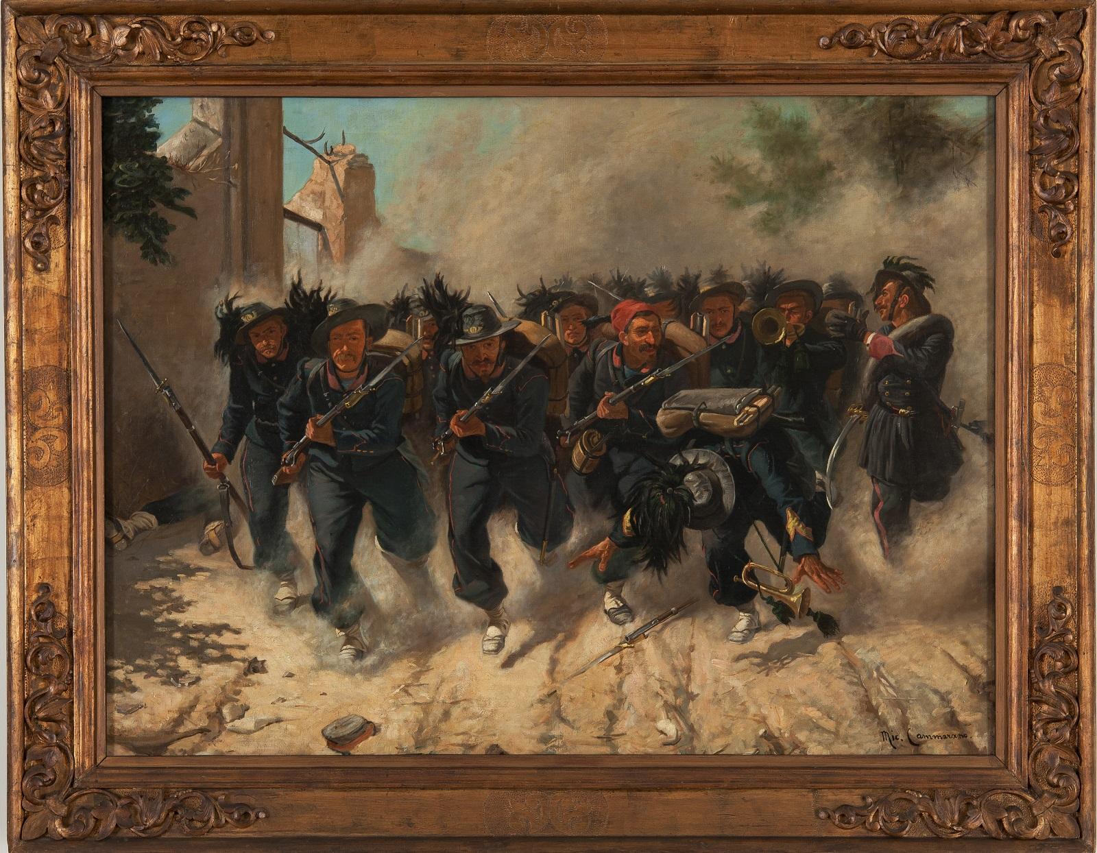 """Fu trafugata dai nazisti nel 1943, <br />la """"Carica dei bersaglieri"""" <br />torna alla Garibaldi"""