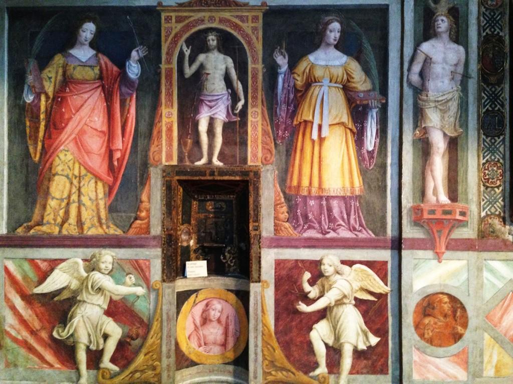 affreschi-bernardino-luini-monastero-san-maurizio-milano-antica-romana-medievale