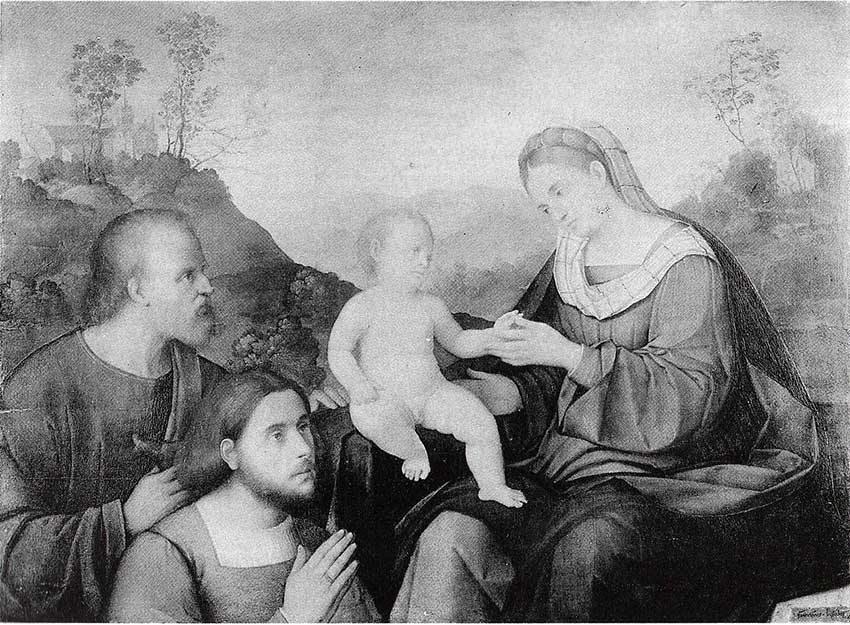 Sacra-Famiglia-con-donatore-Pier-Francesco-Bissolo-opere-trafugate-toscana