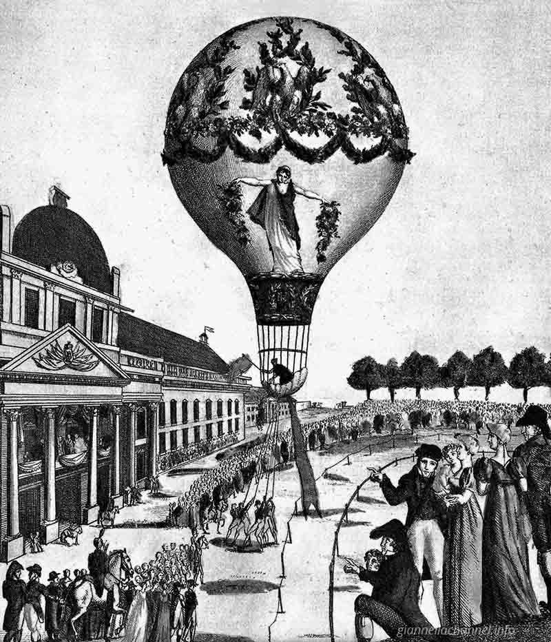 storia-donne-aviazione-Madame-Blanchard-1810