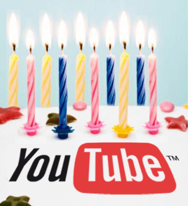 Auguri, Youtube per il tuo primo decennio di vita