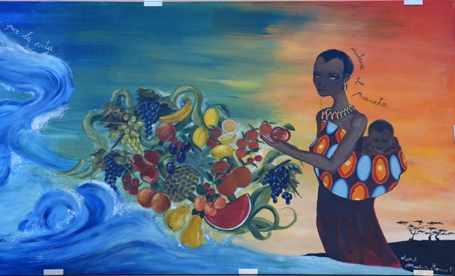 Pannello-tema-Expo-2015-marta-milani-monica-luisa-barlocco-contrada-san-ginisi-palio-contrade-dairago-atlante-paesi-dipinti