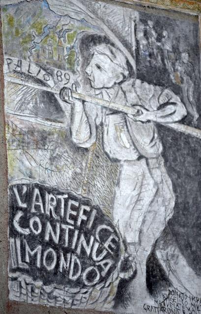 'L'artefice continua il mondo', di Walter Cervi, Palio delle Contrade 1989 (2).