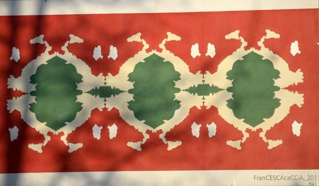 Pannello di Francesca Caccia per celebrare il 150°dell'Unità d'Italia (2011).