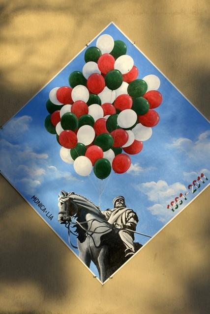 Pannello di Monica e Lia per celebrare il 150°dell'Unità d'Italia (2011).