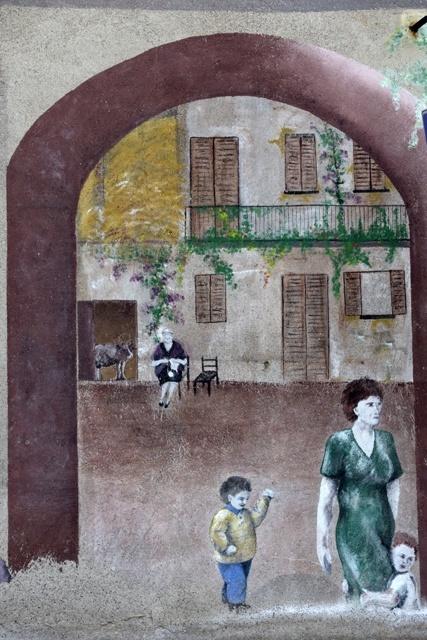 Particolare del murale di via Garibaldi.