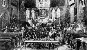 Onori al Milite Ignoto nella Chiesa dei Gesuiti a Gorizia.