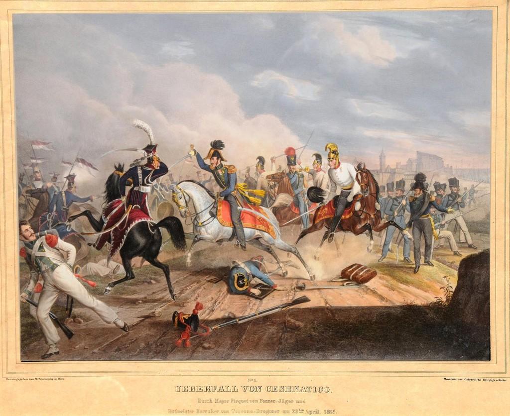 Battaglia-di-Cesenatico-litografia-Franz-Habermann-1788-1866